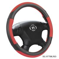 Black And Red Steering Wheel Cover