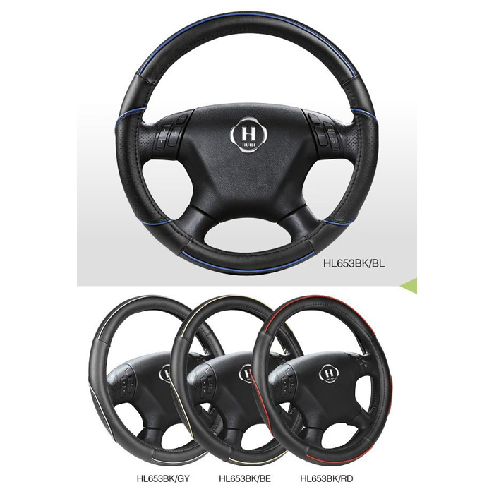 New Hot Sale PU Car Steering Wheel Cover With Blue,Gray,Beige And Red