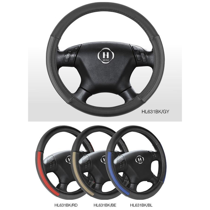 Novelty Design PU Car Steering Wheel Cover With Blue,Gray,Beige And Red