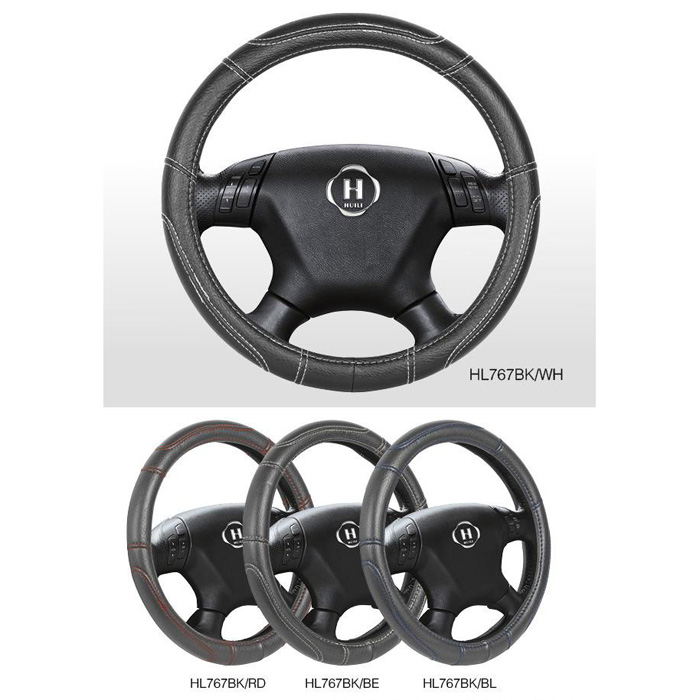 Steering Wheel Cover With Thread In Different Color