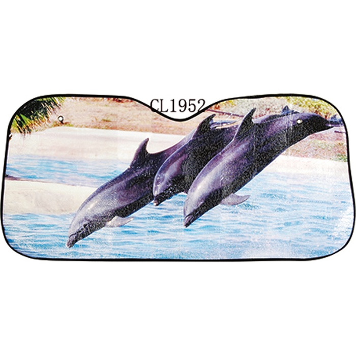 Sun Protection Windshield Sunshades Dolphin with A Smile Windshield Sun Shade Universal Fit Car Sun Shade,Keep Your Vehicle Cool