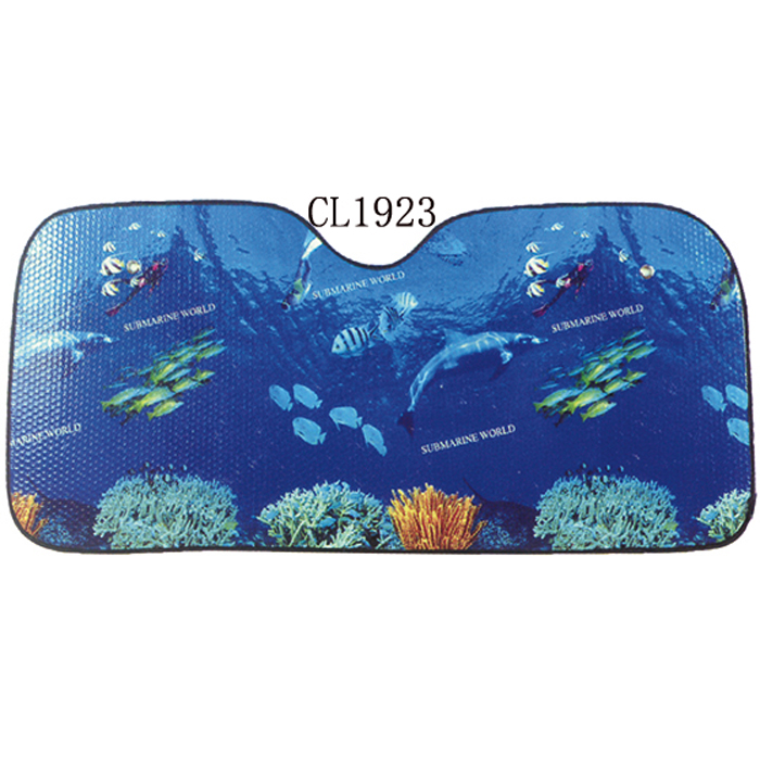 UV Protection Car Front Window Sunshade With Undersea Scenery