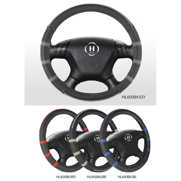 Wholesale PU Car Steering Wheel Cover With Blue,Gray,Beige And Red